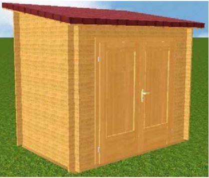 Casette addossate for Casette di legno del paese